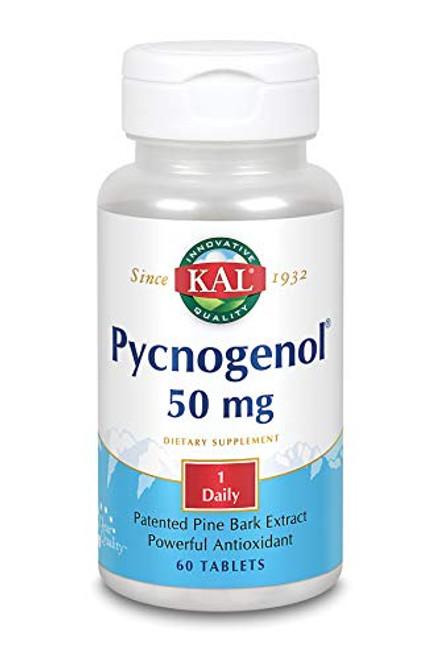 KAL 50 Mg Pycnogenol Tablets, 60 Count