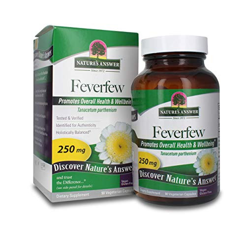 Nature's Answer Feverfew Herb Vegetarian Capsules, 90-Count | Supports Inflammation Reduction | Promotes Cognitive Function