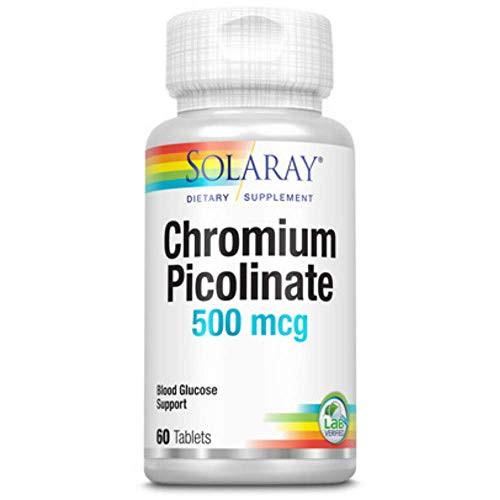 Solaray Chromium Picolinate Tablets, 500 mcg | 60 Count