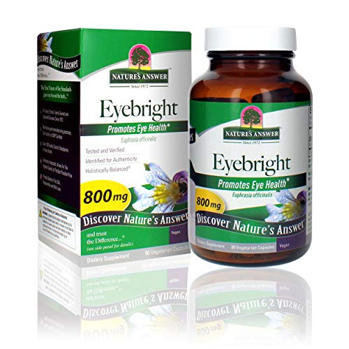 Nature's Answer Eyebright Herb   Supports Healthy Eyes & Vision   Non-GMO   Alcohol-Free, Gluten-Free, Kosher Certified & No Preservatives 90ct Capsules