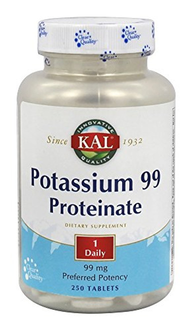 KAL 99 Mg Potassium Proteinate Tablets, 100 Count