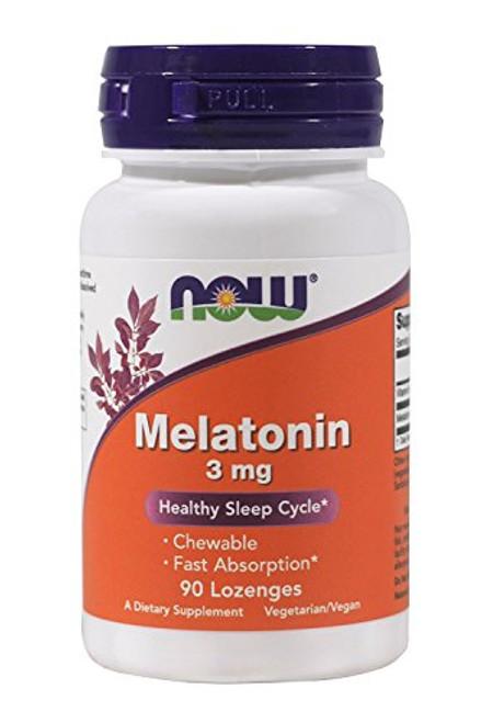 Melatonin 3 mg Chewable 90 Lozenges (Pack of 2)