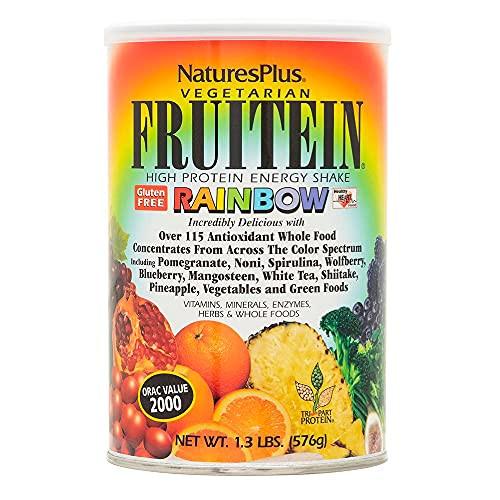 NaturesPlus Fruitein Rainbow High Protein Energy Shake - 1.3 lbs, Vegetarian Powder - Vitamins, Minerals, Enzymes, Herbs & Whole Foods - Non-GMO, Gluten-Free - 16 Servings