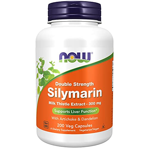Now Foods Silymarin/Milk Thistle Extract 2X - 300Mg, 200 Vcaps (Pack of 2)-1610738995