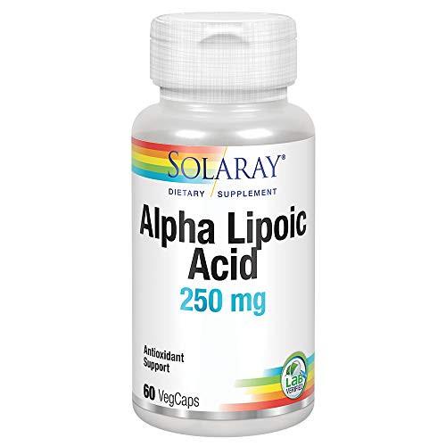 Solaray Alpha Lipoic Acid 250 mg | Healthy Antioxidant Activity & Energy Metabolism Support | Non-GMO & Vegan | 60 VegCaps