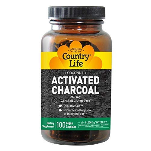 Country Life Charcoal, 260 mg, 100-Count