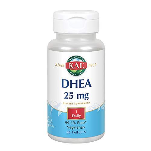 KAL DHEA Vegetarian Tablets, 25 mg, 60 Count-1610739531