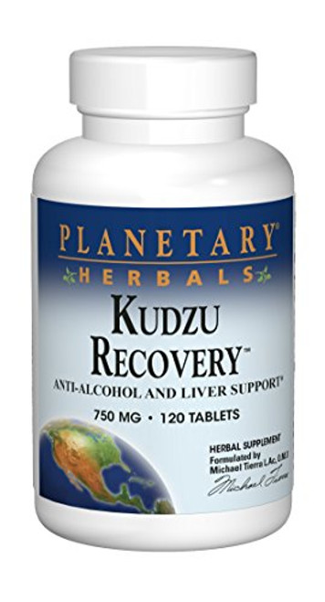 Planetary Herbals Kudzu Recovery 750 mg Anti-Alcohol and Liver Support - 120 Tablet