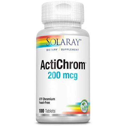 Solaray Chromium as ActiChrom GTF, Tablet (Btl-Plastic) 200mcg | 100ct