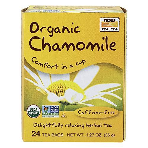 NOW Foods Chamomile Tea, Organic, 24 Tea Bag
