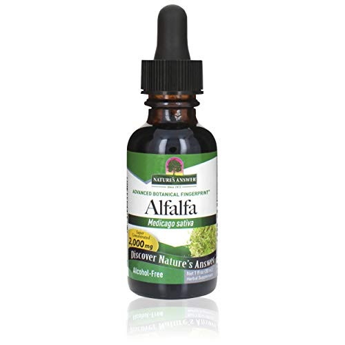 Nature's Answer Alcohol-Free Alfalfa Herb Extract, 1-Fluid Ounce Supports Immune System, Blood, Digestion, Energy Levels - Helps with Detoxification
