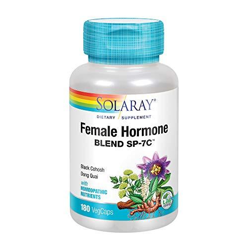Solaray Female Hormone Blend SP-7C | Herbal Blend Includes Black Cohosh, Dong Quai, Passion Flower, Saw Palmetto, Wild Yam & More | 180 VegCaps-1610741450
