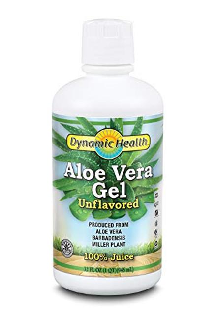 Dynamic Health Organic Aloe Vera Gel, Unflavored, 32 Fluid Ounce
