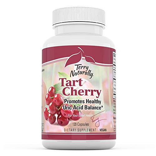 Terry Naturally Tart Cherry - 1500 mg, 120 Vegan Capsules - Provides Antioxidant Effects, Supports Joint Flexibility & Comfort, Aids in Exercise Recovery - Non-GMO, Gluten-Free - 60 Servings