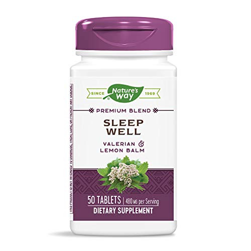 Nature's Way Sleep Well Supplement with Valerian & Lemon Balm, 50 Count