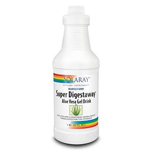 Solaray Super Digestaway Aloe Vera Gel Drink, 32 fl oz-1610742280