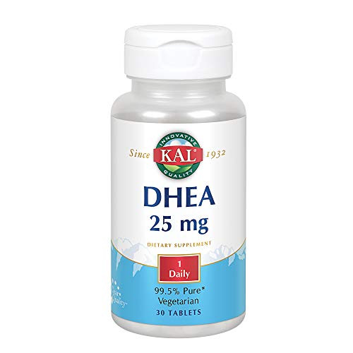 KAL DHEA 25 mg   99.5% Pure & Micronized   Healthy Balance & Aging Support Formula for Men & Women   30ct, 30 Serv.