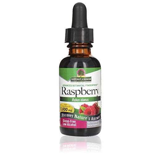Nature's Answer low Alcohol Raspberry Leaf Extract, 1-Fluid Ounce High Potency nonGMO, Kosher certified, & Gluten Free | Natural Weight Management | Natural Energy | Promotes Digestive Health