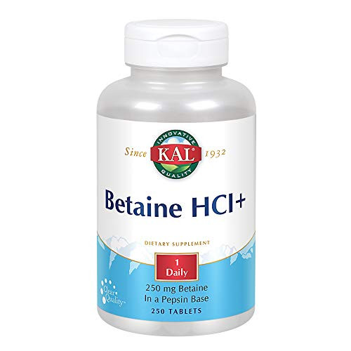 KAL Betaine HCL Tablets, 250 mg, 250 Count-1610744086