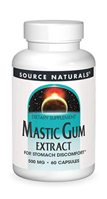 SOURCE NATURALS Mastic Gum Extract 500 Mg Capsule, 60 Count-1610744099