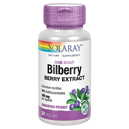 Solaray Bilberry Berry Extract 160 mg with Blueberry Extract | Healthy Vision & Circulation Support | 30 VegCaps … B002S3SHFM