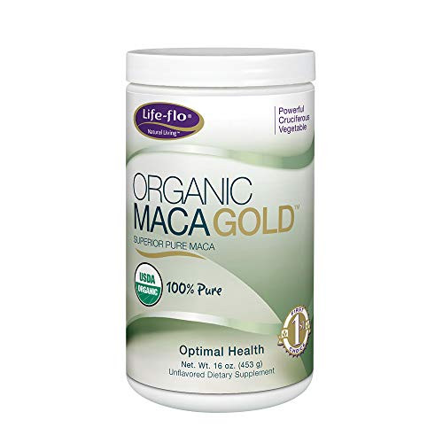 Life-Flo Organic Maca Gold Supplement | 100% Pure Maca Powder for Energy, Stamina & Vitality Support | Unflavored | 16oz