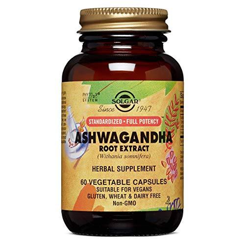 Solgar Standardized Full Potency Ashwagandha Root Extract Vegetable Capsules, 60 Count
