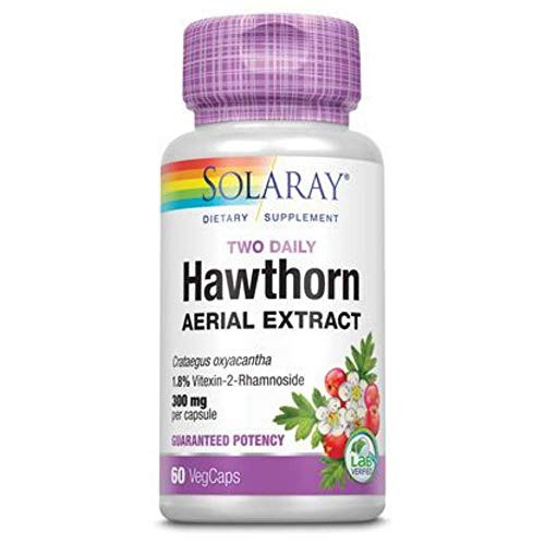 Solaray Hawthorn Two Daily Supplement 300mg   60 CT