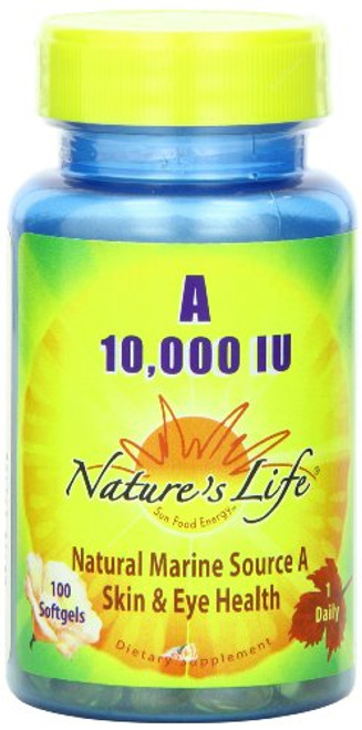 Nature's Life Vitamin A 10,000 IU | 100 ct