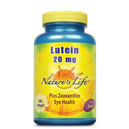 Nature's Life Lutein 20 mg | 100 ct