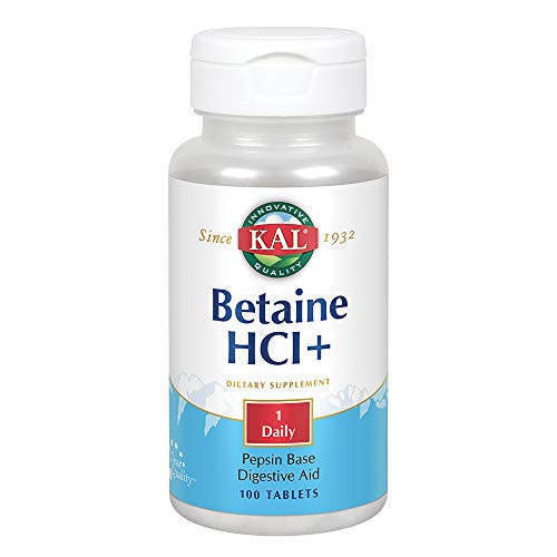 KAL Betaine HCL Tablets, 250 mg, 100 Count-1610746098