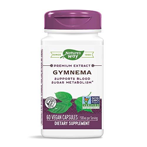 Natures Way Gymnema Standardized 60 Vegetarian capsule, 60 ct