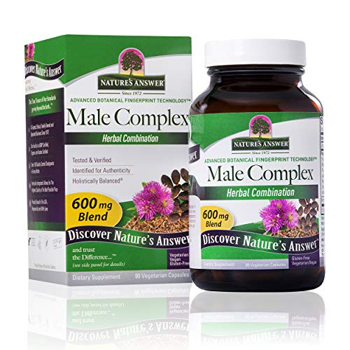 Nature's Answer Male Complex Vegetarian Capsules, 90-Count | Daily Male Supplement | Prostate Support | Overall Male Wellness