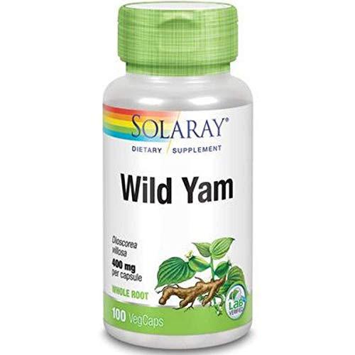 Solaray Wild Yam Root Capsules, 400 mg | 100 Count