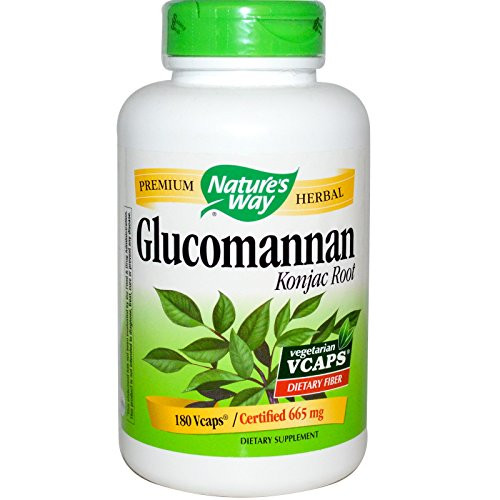 NATURE'S WAY, Glucomannan - 180 vegicaps