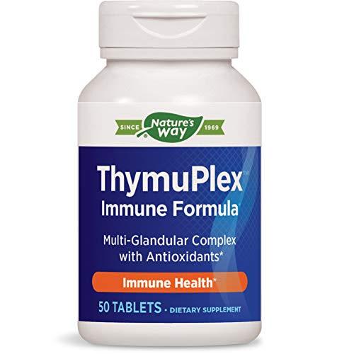 Nature's Way ThymuPlex Immune Formula Multi-Glandular Complex w/Powerful Antioxidants 50 Count (Packaging May Vary)