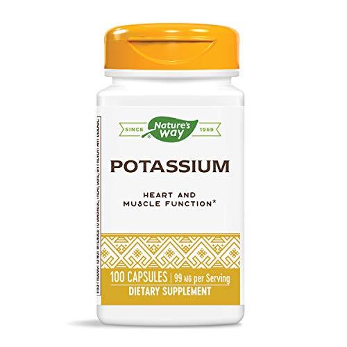 Nature's Way Potassium Complex, 99 mg per Serving, 100 Capsules, Pack of 3