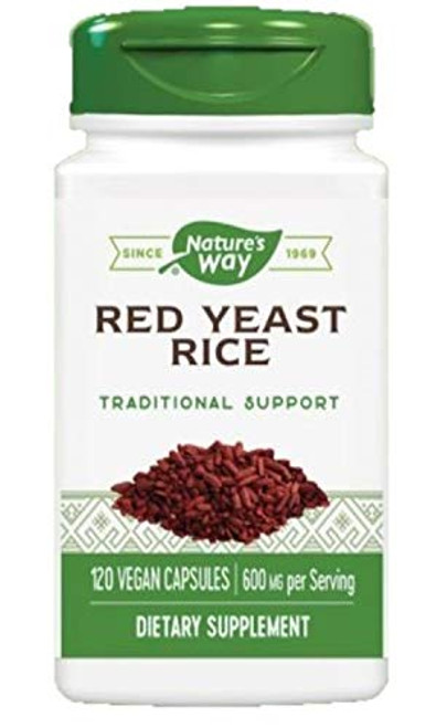 Nature's Way HeartSure® Red Yeast Rice 600 mg Twice Daily, 120 VCaps