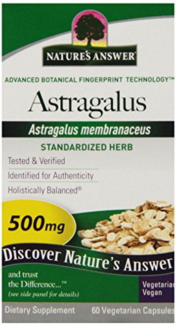 Nature's Answer Astragalus Root Vegetarian Capsules, 60-Count