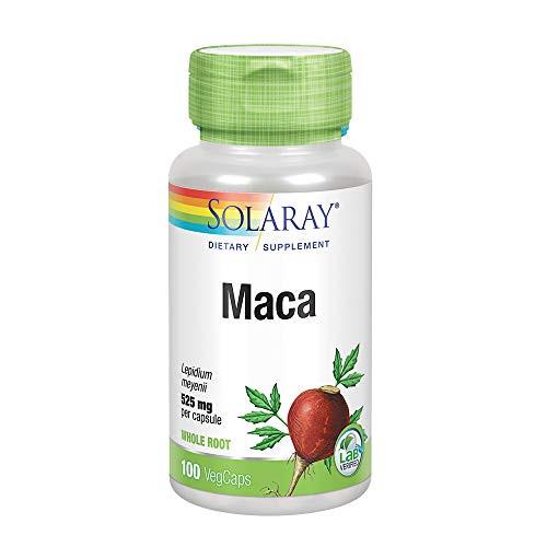 Solaray Maca Root 525 mg | Healthy Balance, Energy, Vitality & Libido Support | Non-GMO, Vegan | 100 VegCaps