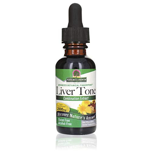 Nature's Answer Liver Tone Alcohol Free 1 Fluid Ounce   Promotes Healthy Liver Function   Natural Cleanser & Detoxifier   Support Overall Health