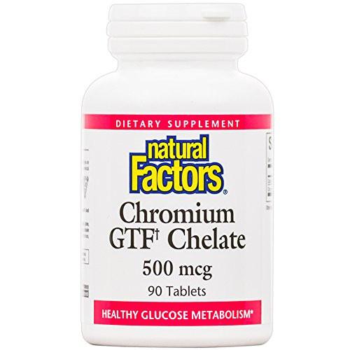Chromium GTF Chelate 500mcg Natural Factors 90 Tabs