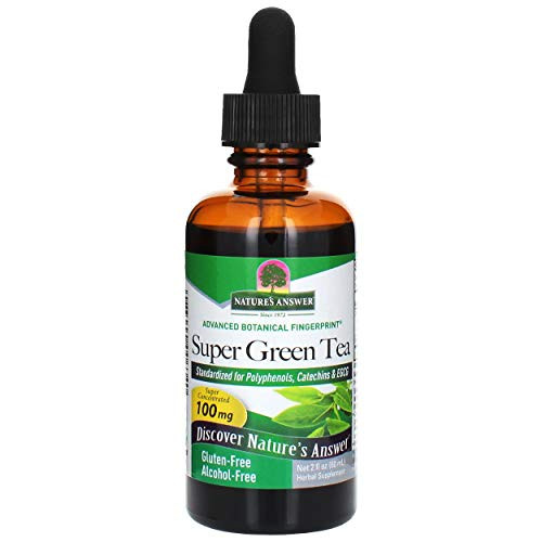 Natures Answer Green Tea Extract, Natural Peach Flavor   Promotes Natural Energy   Natural Fat Burner