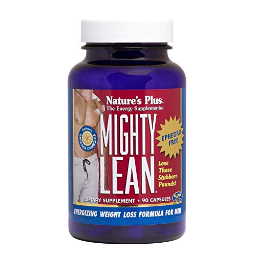 NaturesPlus Mighty Lean - 100 mg Garcinia Cambogia, 90 Capsules - Ephedra-Free Weight Loss Support Supplement with Rhodiola, Eleuthero, Korean Ginseng - Gluten-Free - 30 Servings
