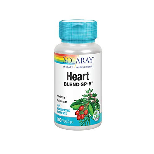 Solaray Heart Blend SP-8 | Herbal Blend w/Cell Salt Nutrients to Help Support Healthy Heart Function | Non-GMO, Vegan | 50 Servings | 100 VegCaps