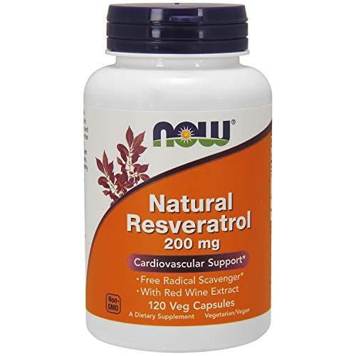 Now Foods Natural Resveratrol 200 mg Mega Potency 120 Vcaps ( Multi-Pack)