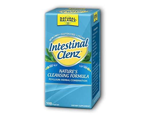 Natural Balance Intestinal Clenz | Psyllium Herbal Cleansing Formula | Healthy Digestion & Regularity Supplement | Gluten Free | 100 VegCaps, 20 Serv.