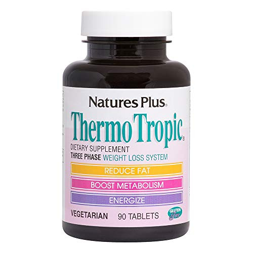 NaturesPlus Thermo Tropic - 100 mg Garcinia Cambogia, 90 Vegetarian Tablets - Weight Loss Support Supplement, Promotes Fat Loss, Boosts Metabolism & Energy - Gluten-Free - 45 Servings
