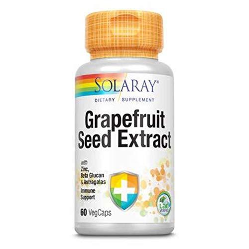 Solaray Grapefruit Seed Extract Immunity Formula Capsules, 250 mg | 60 Count
