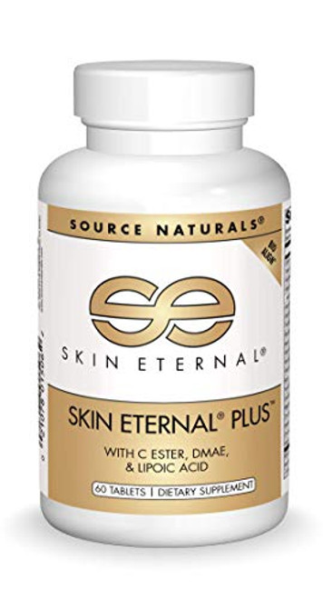 Source Naturals Skin Eternal Plus Dietary Supplement with C Ester, DMAE, and Lipoic Acid - 60 Tablets